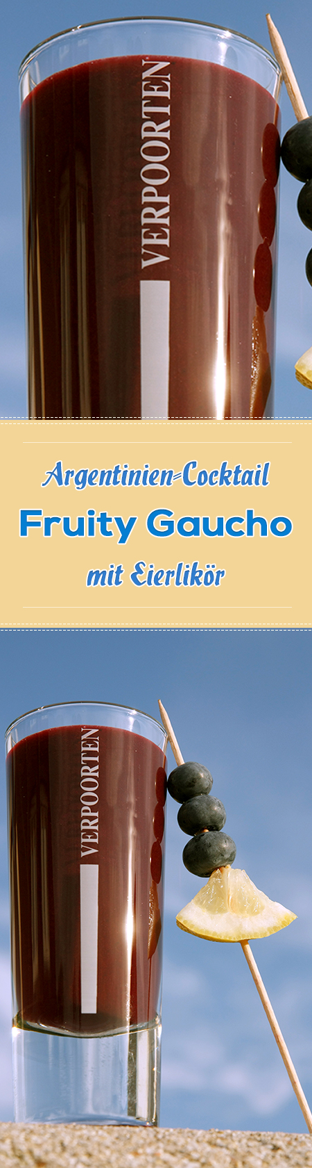 WM-Cocktails Länder-Cocktail Argentinien 'Fruity Gaucho'