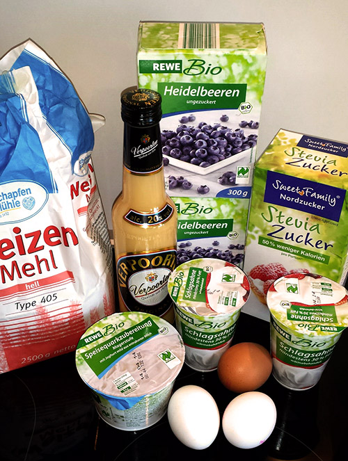 Leichte Heidelbeer Eierlikor Torte Mit Steviazucker Kuchenrezepte