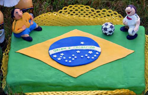 Fussball Torte Rezept Motivkuchen Brasilien Eierlikor Apfelkuchen