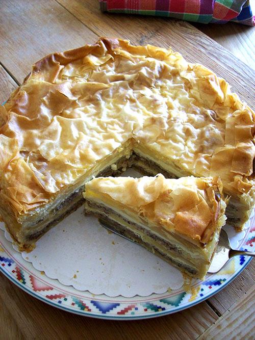 Geschichtete Apfel Nuss Torte Mit Verpoorten Original Eierlikor