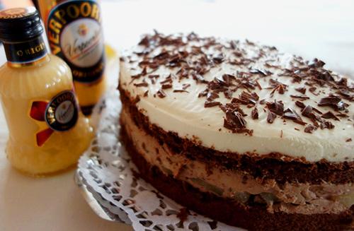 Festliche Schoko Birnen Torte Mit Verpoorten Original Eierlikor