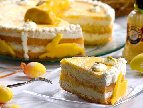 Oster Torte Mit Eierlikor Verpoorten Mango Frischkase Torte