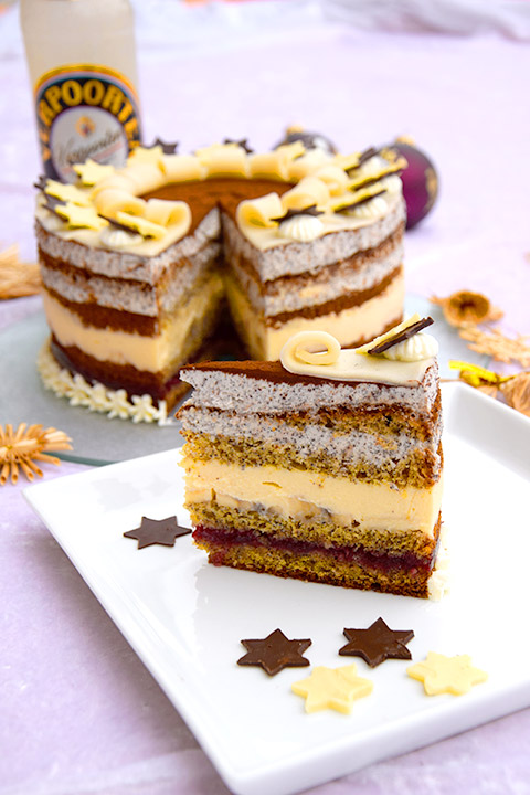 Mohn Bananen Torte Mit Verpoorten Original Eierlikor Kuchenrezepte