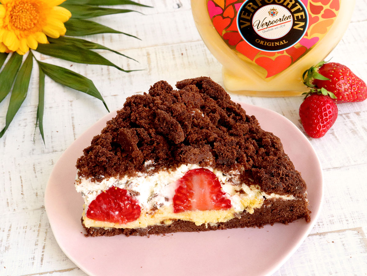 Erdbeer Maulwurfkuchen Mit Verpoorten Original Eierlikor