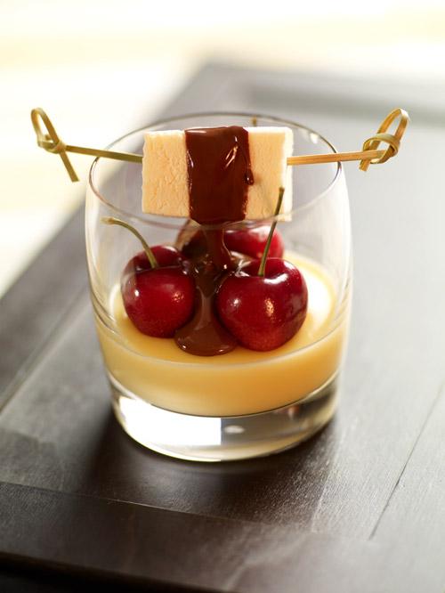eierlik rdessert fondue von verpoorten parfait schokolade. Black Bedroom Furniture Sets. Home Design Ideas