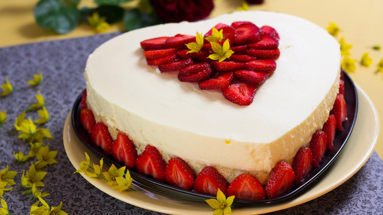 ... Bild: Kuchen ohne Backen ''Erdbeer-Kokos-VERPOORTEN-Torte''