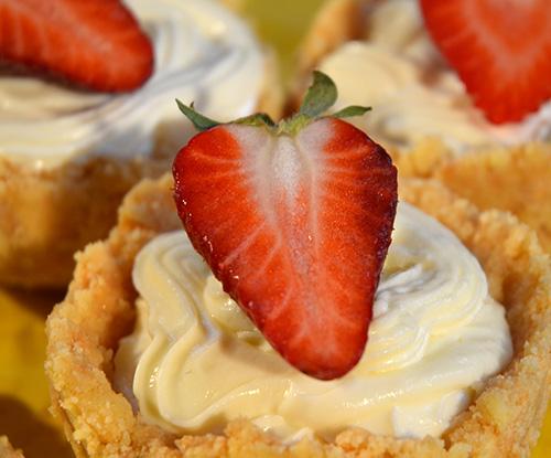 Verpoorten Frischkase Tortchen Mit Erdbeeren Kuchen Ohne Backen