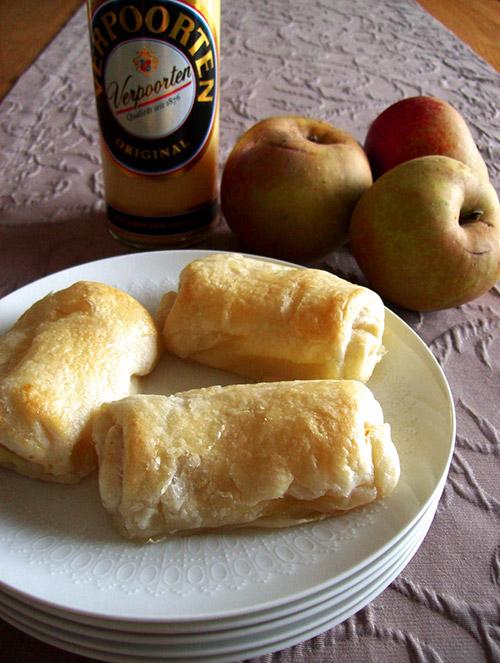 Mini Apfelstrudel Mit Eierlikor Apfel Quark Strudel Mit Verpoorten