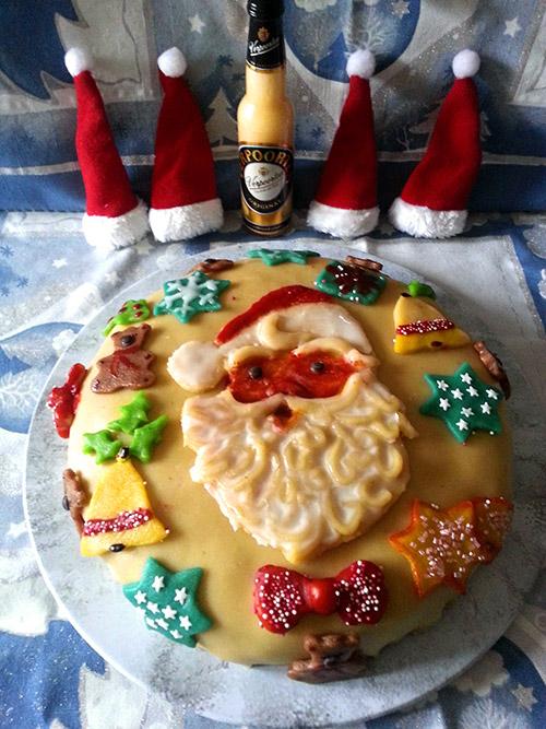 weihnachtliche nuss schoko karamell torte mit eierlik r. Black Bedroom Furniture Sets. Home Design Ideas