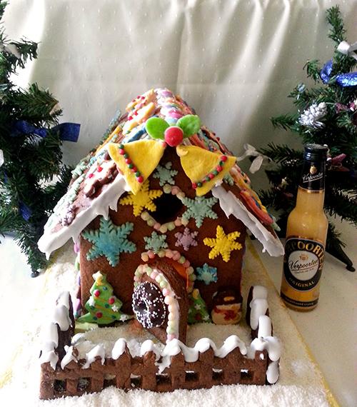 Weihnachtliches Verpoorten Lebkuchenhaus