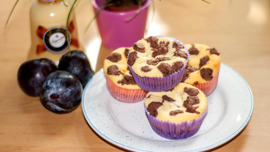 Kasekuchen Muffins Mit Pflaumen Und Eierlikor Kuchenrezepte Mit