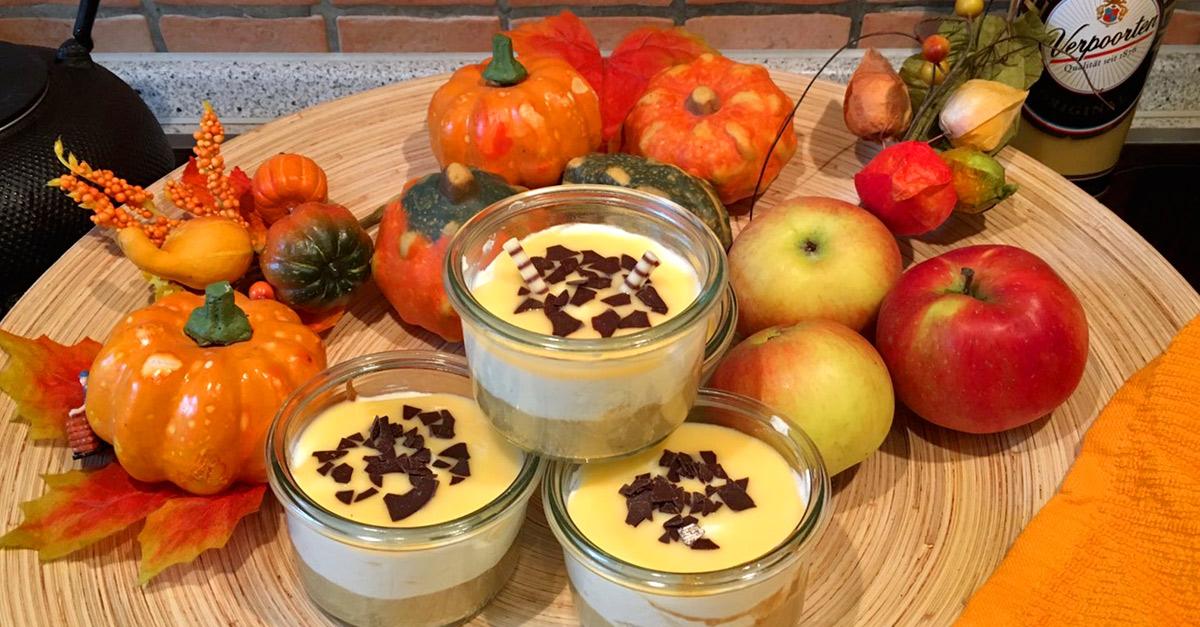 Apfel Quark Kuchen Im Glas Mit Verpoorten Original Eierlikor