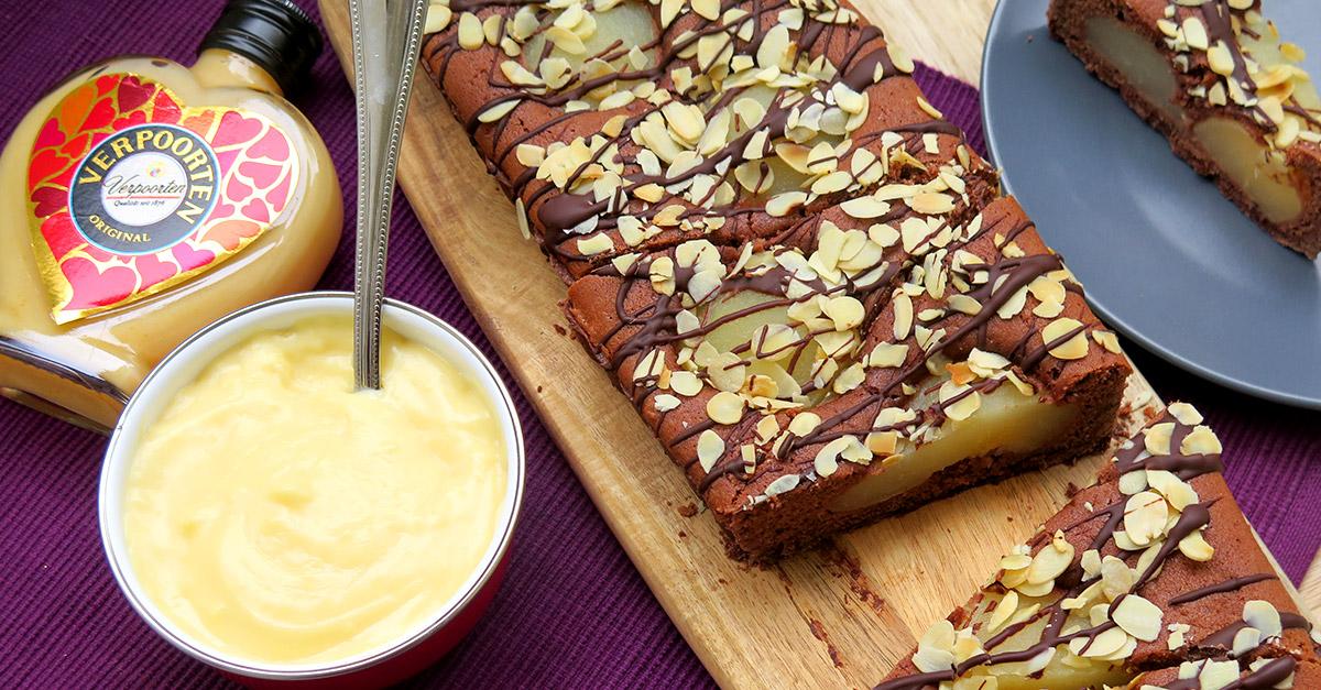 schoko birnen tarte mit verpoorten original eierlik r kuchenrezepte mit eierlik r verpoorten. Black Bedroom Furniture Sets. Home Design Ideas