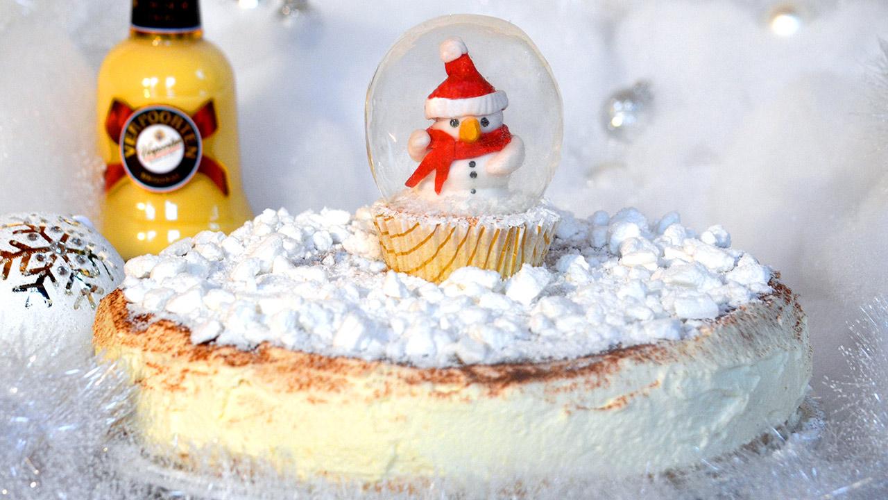 eierlik r rosinen torte mit einem schneekugel cupcake kuchenrezepte mit eierlik r verpoorten. Black Bedroom Furniture Sets. Home Design Ideas