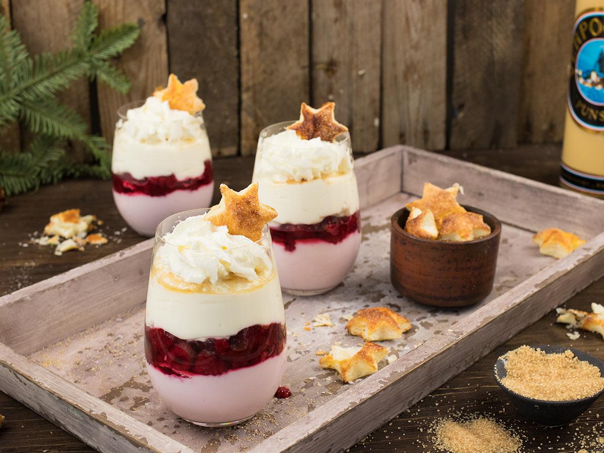 himbeer mascarpone eierpunsch dessert mit verpoorten punsch nachtisch mit eierlik r verpoorten